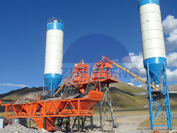 HZS35 attractive price new type concrete mixing station plant hzs series concrete batching plant