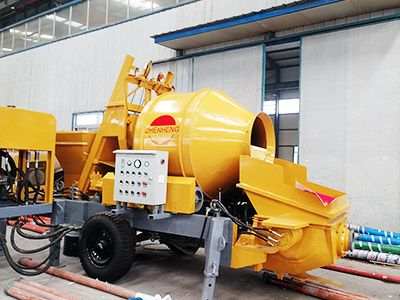 JBS30 Electric Concrete Pump With Mixer Near the Philippines