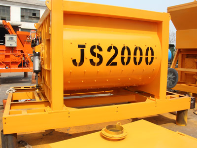 JS double axle forced type concrete mixer