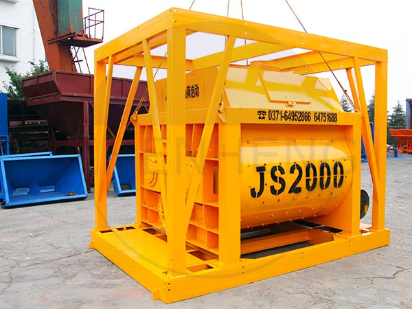 twin shaft mixer,js series concrete mixer