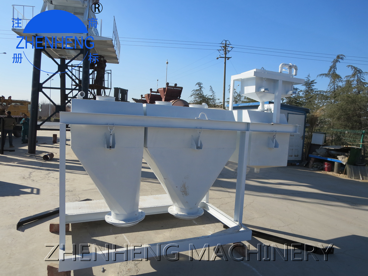 weighing system in concrete batching plant