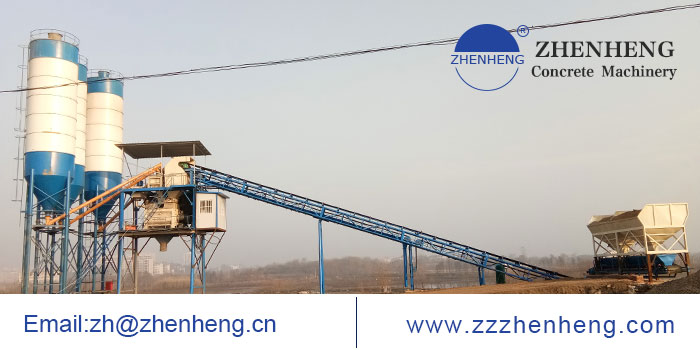HZS90 Belt Conveyor Concrete Batching Plant