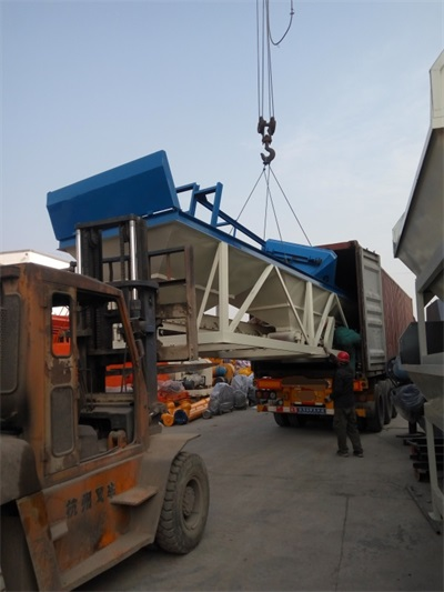 HZS35 Skip Hopper Concrete Batching Plant in Egypt